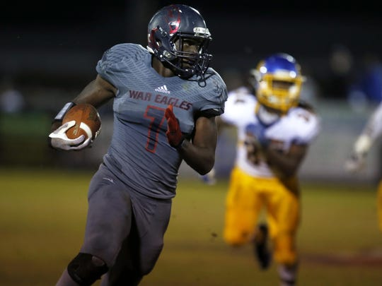 Wakulla receiver Keith Gavin returns a punt for a touchdown during a playoff win over Rickards last Friday. Gavin decommitted from FSU before the season began and could now follow his quarterback Feleipe Franks to the same college after Franks decommitted from LSU on Monday.
