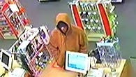 Richmond Police Department is looking for this suspect in Sunday night's armed robbery of a CVS drugstore. Call (765) 983-7247 with any information about the suspect.