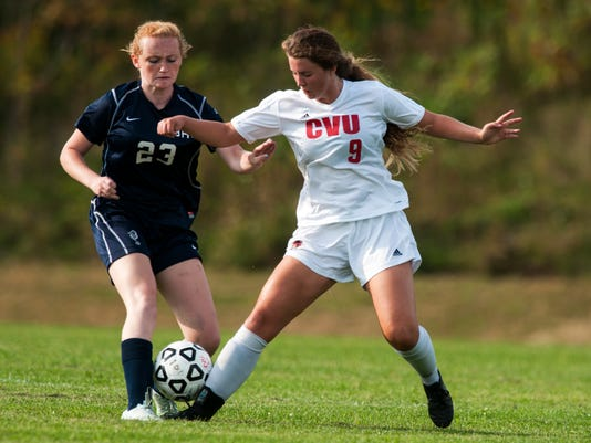Burlington vs. CVU Girls Soccer 09/08/15