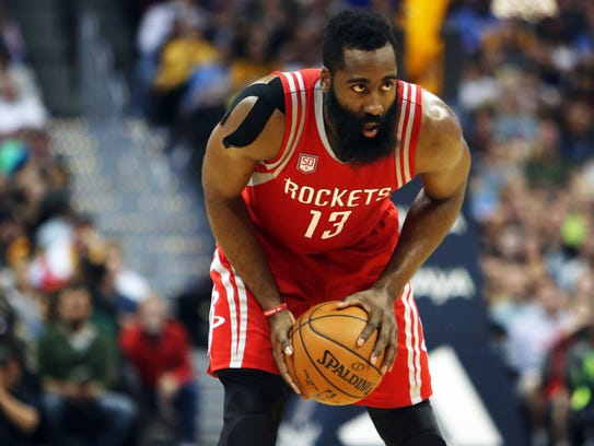 Houston Rockets guard James Harden during the second