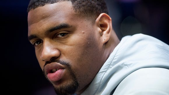 Alabama defensive lineman Jonathan Allen (93) talks with the media at the Alabama Media Day at Amalie Arena in Tampa, Fla. on Saturday January 7, 2017. The College Football Playoff National Championship Game is on Monday.