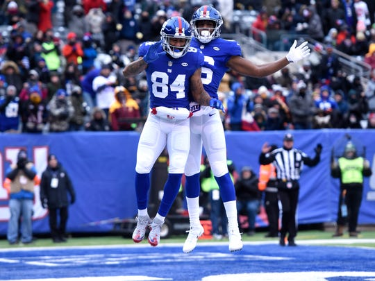 New York Giants wide receiver Hunter Sharp (84) and