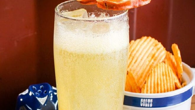 The Indianapolis Colts Crisp mocktail is featured on the team's Pinterest page.