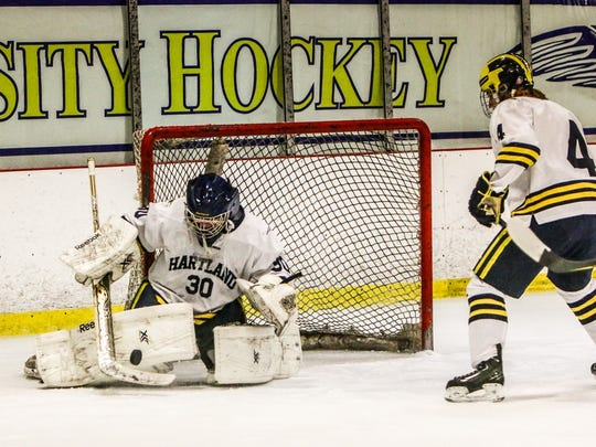 Brett Tome may start in goal for Hartland against Livonia Stevenson if Andrew Heuwagen is unable to play because of illness.