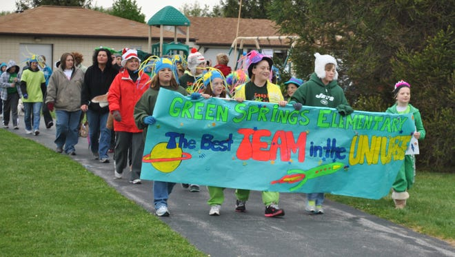 A large group of students and staff from Green Springs Elementary participated in a previous NAMI Walk at Conner Park in Ballville Township. This year's NAMI Walk will be held Saturday at Conner Park, with check-in starting at 9:15 a.m.