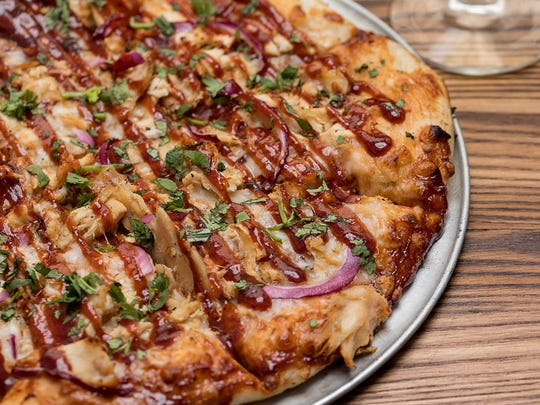 BBQ Chicken Pizza from  Mike's Pizza, one of the new restaurants at Little Caesars Arena