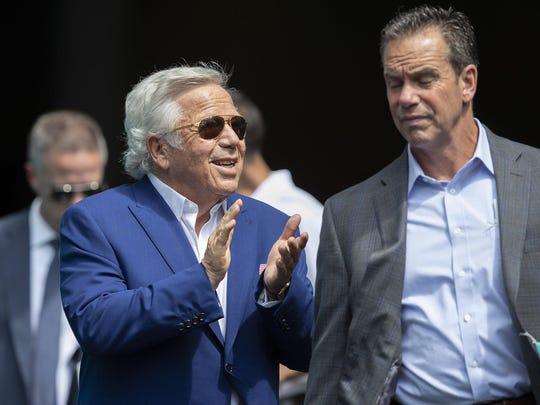 New England Patriots owner Robert Kraft in Miami Gardens, September 15, 2019.