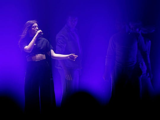Lorde performs during her Melodrama World Tour at Gila River Arena in Glendale on Friday, March 16, 2018.