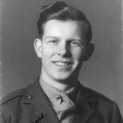 An published in the Poughkeepsie New Yorker (Now known as the Poughkeepsie Journal) on Dec. 26, 1943 announces the death of Marine Private First Class James Johnson.