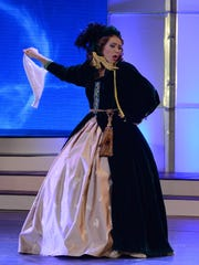 """Sarah Finleyson, Miss Greater Easley Teen, won a preliminary talent award for performing a speed-talking monologue based on the plot of """"Gone With the Wind."""""""