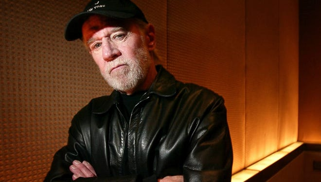 """This March 19, 2004, photo shows actor and comedian George Carlin in New York. Carlin is featured in CNN's docuseries, """"The History of Comedy,"""" premiering Thursday at 10 p.m. EST."""