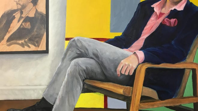 Portrait of Wired Gallery owner Sevan Melikyan by Marshall Borris.