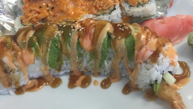 A Gump roll and a Dragon roll.