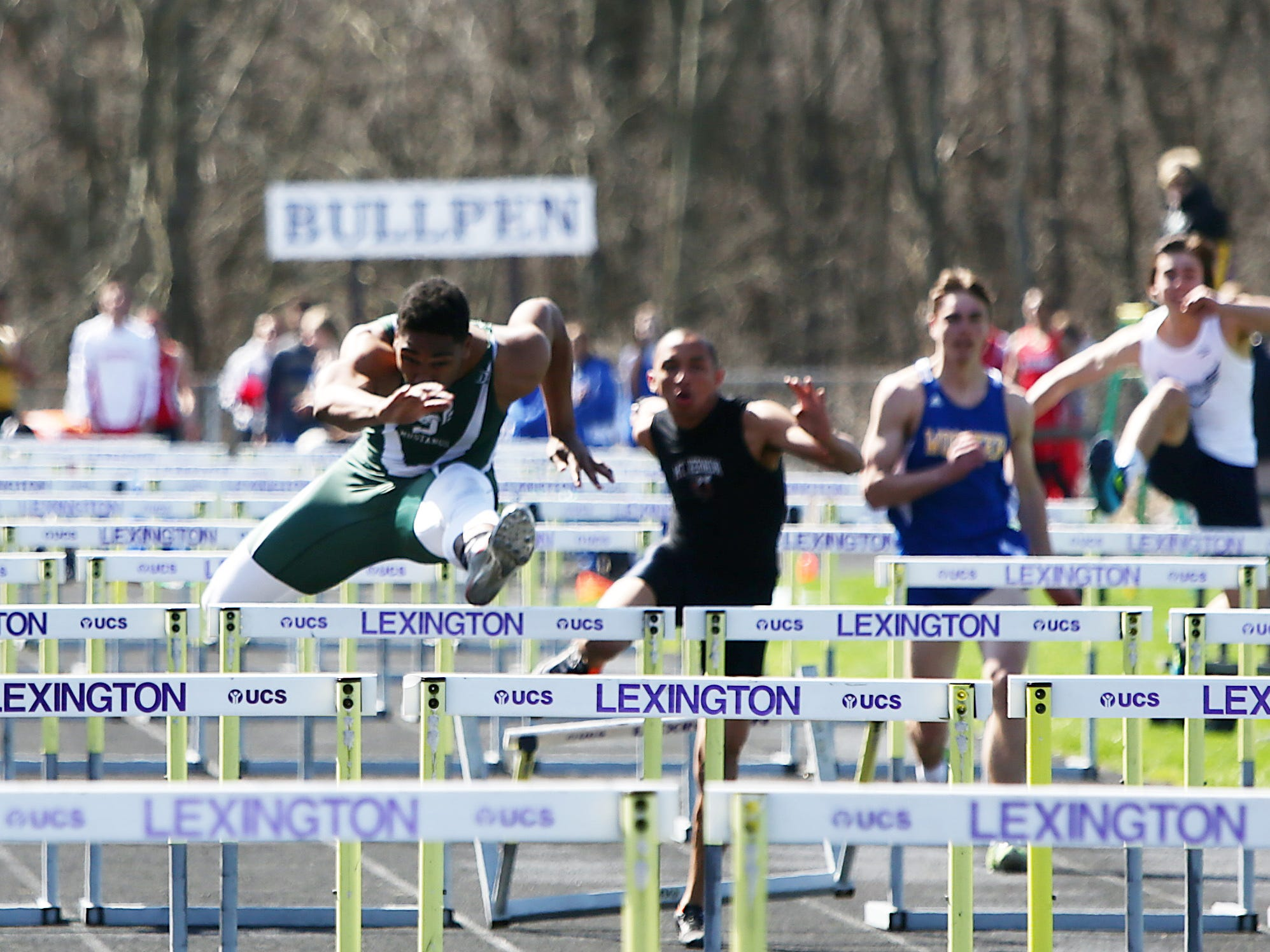 Madison hurdler Frank Douglas competes at last week's Lexington Invitational. He came within less than .2 of winning a Mehock title in the 300 intermediates last year and also finished third in the 110 highs in a stellar field.
