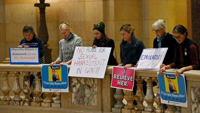 Protest on Nov. 17, 2017. at the Capitol in St. Paul.