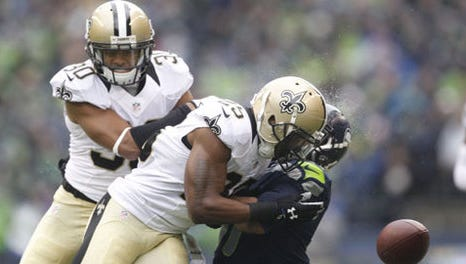 Saints safety Rafael Bush won his appeal of a $21,000 fine for a hit on Seattle receiver Percy Harvin in the divisional round of the NFC playoffs.