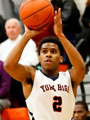 York High's Jacquez Casiano lines up a shot during