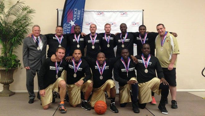 A basketball team of Brevard County Sheriff's deputies placed in the United States Police and Fire competition last week.