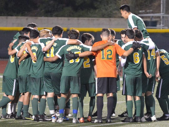 After earning a share of the Coastal Canyon League title, the Moorpark High boys soccer team will open the CIF-SS Division 2 playoffs at Mira Costa on Friday.