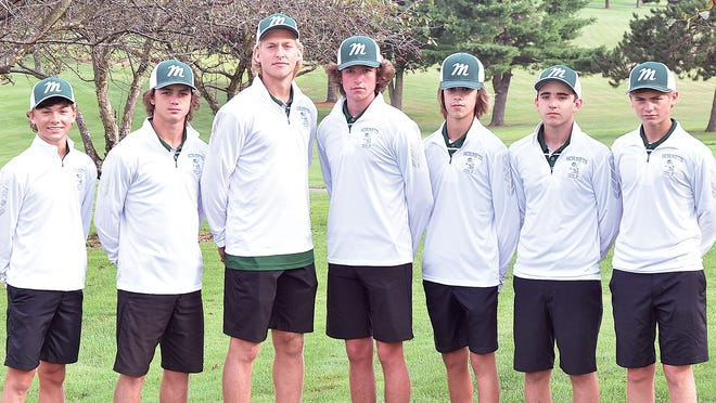 Returning lettermen for the 2020 Malvern boys golf team are (left to right) Daniel Untch, Max Earl, Johnny Browning, Connor Lefevre, Aiden Unkefer, Tucker Andrews and Will Yerrick.