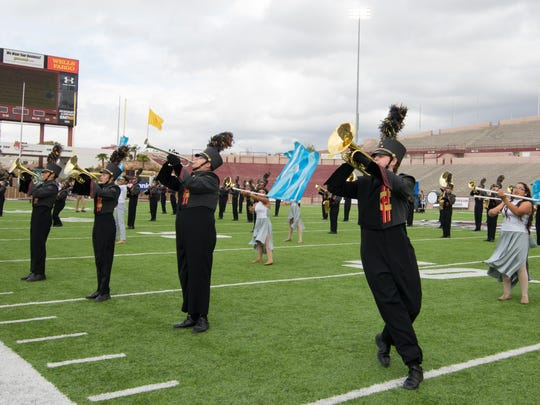 Centennial High School during the 2016 Tournament of Bands held Saturday at Aggie Memorial Stadium on November 5, 2016.