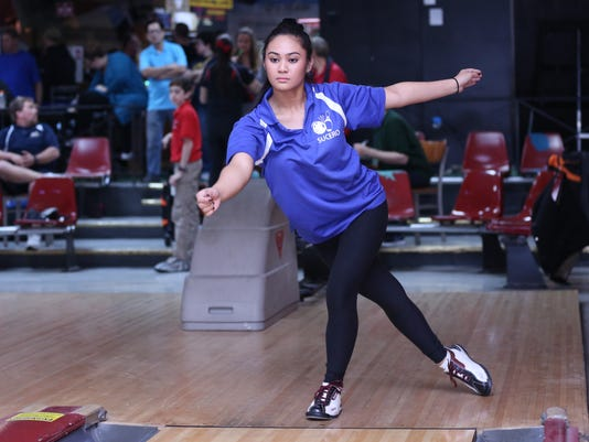 Holy Angels bowler Tiffany Sucero