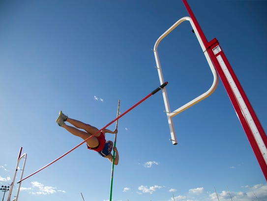 Rylee Bruce, a sophomore at Moon Valley High competes