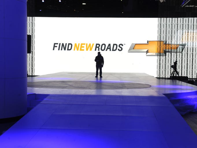 The main stage where the all new Chevrolet Volt will