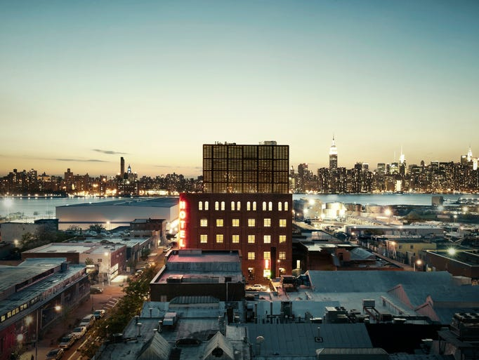The waterfront factory-turned Wythe Hotel in Brooklyn,