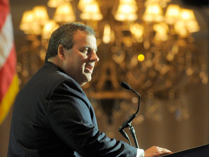 New Jersey Gov. Chris Christie speaks Friday, March