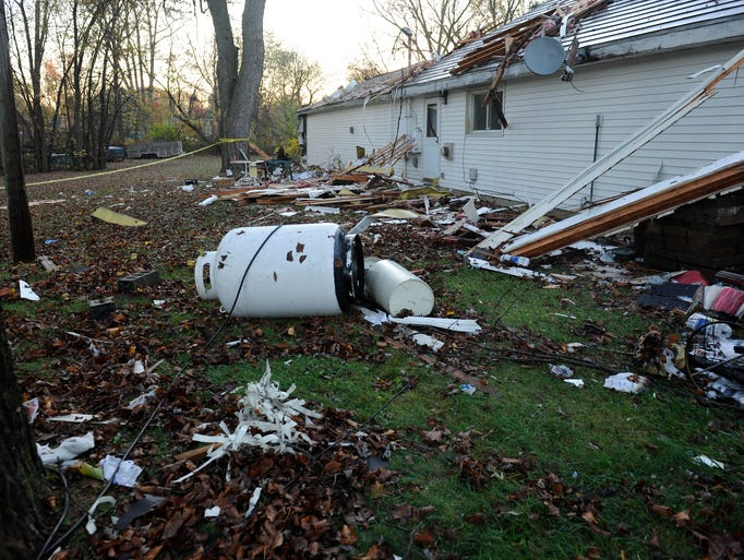 The massive explosion that leveled a home Nov. 1, 2015,