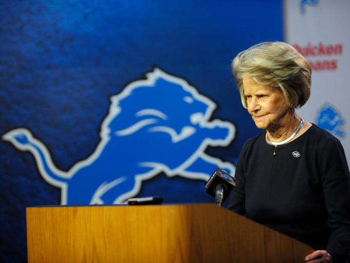 Detroit Lions owner Martha Ford announces  the Lions