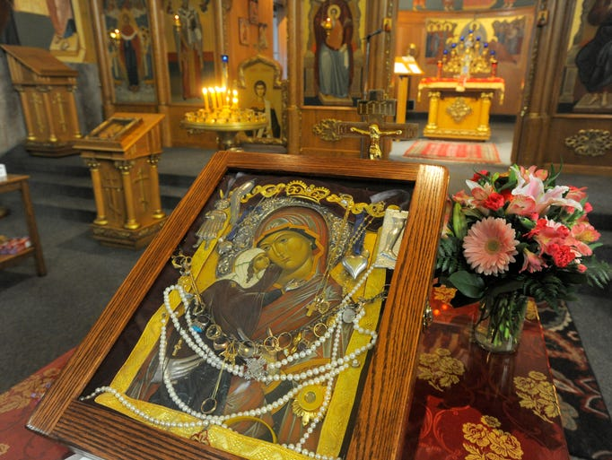 The Miraculous Myrrh-Streaming Icon of St. Anna, the