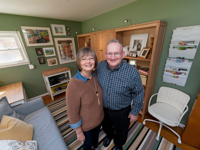 Judy and Bob Curry of Allen Park stand in their newly