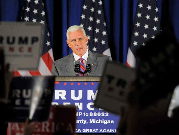 Republican vice presidential candidate Gov. Mike Pence