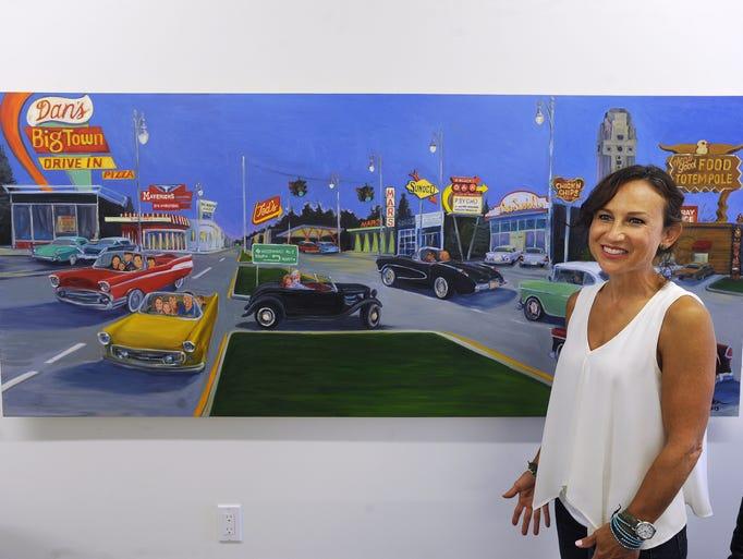 Painter Darcel Deneau talks about the custom cruising