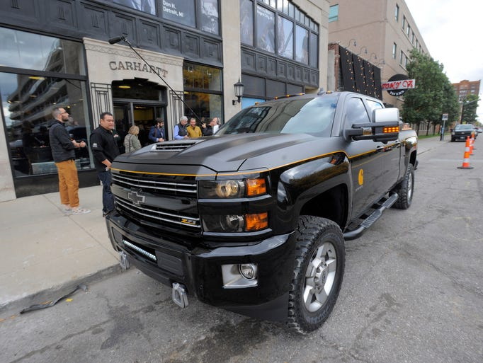 The 2017 Chevrolet Silverado Carhartt edition, unveiled