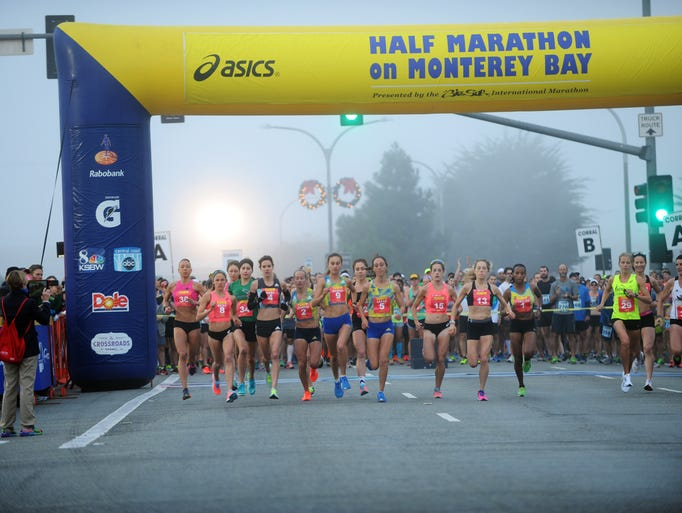 The elite women are first on the course at the 14th