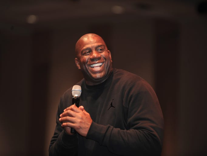 "Earvin ""Magic"" Johnson, of the Magic Johnson Foundation,"