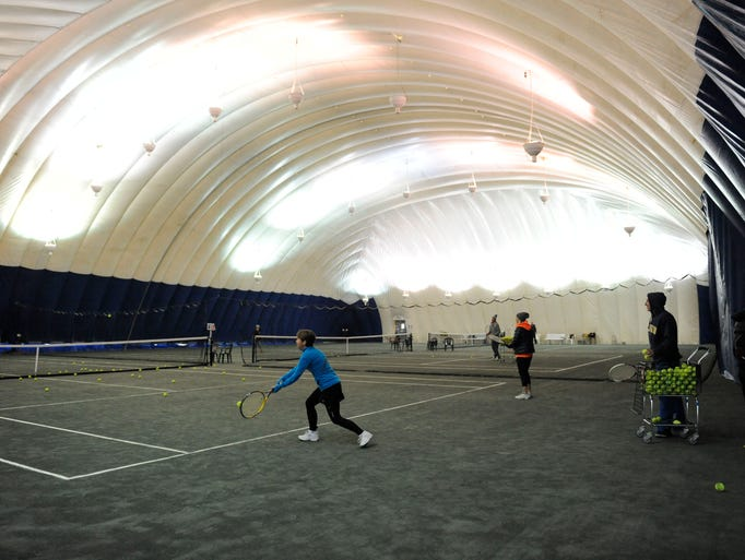 Wessen indoor tennis courts in Pontiac.