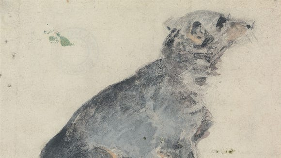 """""""Study of a Dog"""" by David Cox, 1840s"""