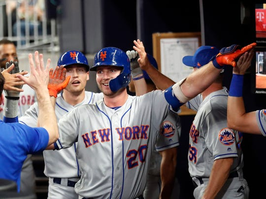 Rookie Pete Alonso has been the Mets' hottest hitter this season.