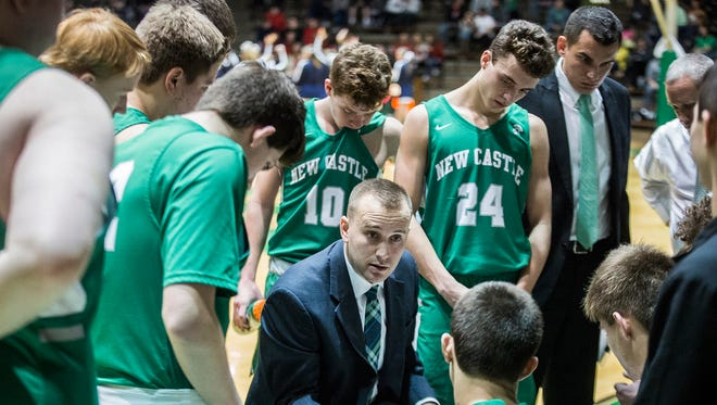New Castle defeated Delta 68-45 in their sectional championship game at New Castle High School Saturday, March 3, 2018.