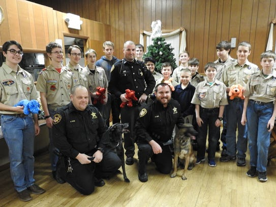 Boy Scout Troop 403 recently donated 96 Shiny Dogs