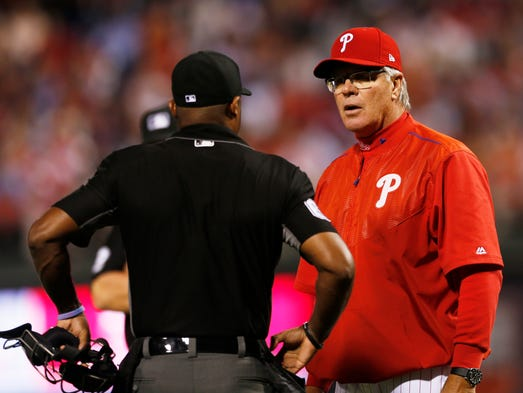 April 10: Phillies manager Pete Mackanin is ejected