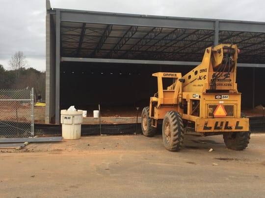 A new Planet Fitness club under construction in the Easley Town Center