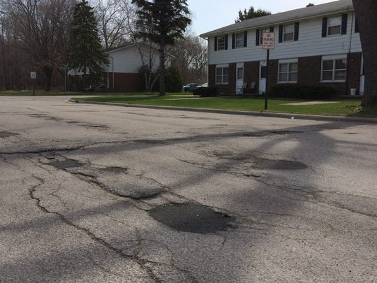 A 600-foot stretch of Farlin Street between Danz Avenue and Turek Street has not been repaved since 1976. Absentee landlords who own most of the property here have successfully voted down the city's plans to redo the road twice.