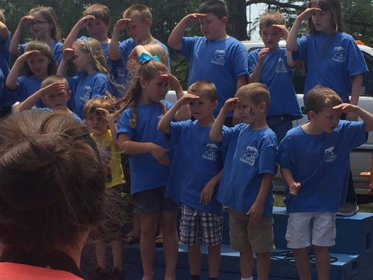"""A.R. Lewis students sing """"You've got a Friend in Me."""""""