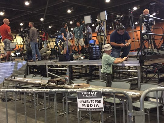 The media area at the Phoenix Convention Center is
