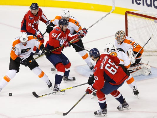 USP NHL: STANLEY CUP PLAYOFFS-PHILADELPHIA FLYERS S HKN USA DC